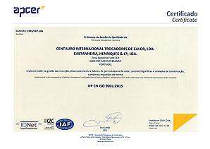 APCER ISO 9001/2015